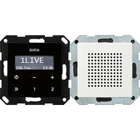 Gira 228003 Unterputz-Radio RDS mit 1 Lautsprecher reinweiß glänzend