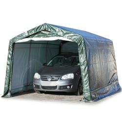Toolport Zeltgarage 3,3x4,8m PE 260 g/m² dunkelgrün wasserdicht Garagenzelt