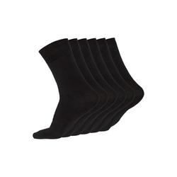 JARAQ Socken JARAQ Bambus Herren und Damen Strümpfe 6 Paar Schwarz (6-Paar) 43-46