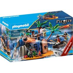 Playmobil® Spiel, PLAYMOBIL® 70556 Pirates Pirateninsel mit Schatzve