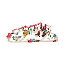 Small Foot Spielzeug-Eisenbahn Eisenbahnset Meine Stadt