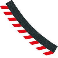 Carrera Außenrandstreifen für Kurve 3/30 Grad 6er Pack, Endstücke 2er Pack 20020563