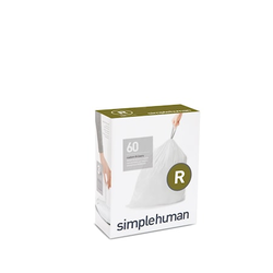 Simplehuman Passgenaue Müllsäcke für Mülleimer Typ R 60-pack