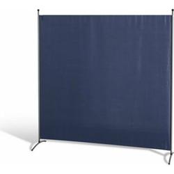 Grasekamp Stellwand 180 x 180 cm - Blau - Paravent  Raumteiler Trennwand Sichtschutz