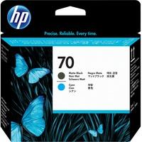 HP 70 cyan + schwarz matt (C9404A)