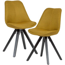 2 WOHNLING   Esszimmerstühle gelb