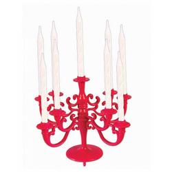 Horror-Shop Kerzenständer Torten & Kuchen Kerzenständer Pink