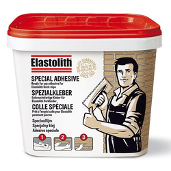 ELASTOLITH Klebstoff, Spezialkleber für Verblender, 5 kg, hellgrau