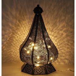 Guru-Shop Laterne Orientalische Metall Laterne in marrokanischem.. schwarz