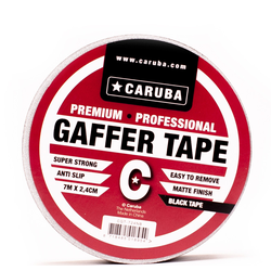 CARUBA Gaffer Tape 7 m x 2.4cm schwarz