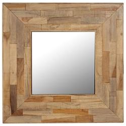 vidaXL Spiegel Recyceltes Teakholz 50 x 50 cm