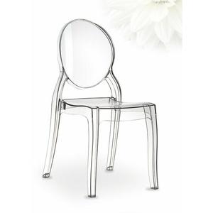 Hochwertiger Ghost Stuhl Elizabeth aus transparentem Plexiglas