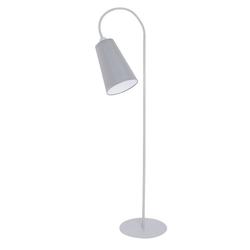 Licht-Erlebnisse Stehlampe BANTA Moderne Stehleuchte Grau Weiß flexibel Leselampe Couh Lampe