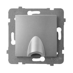 Kabelanschluss - Steckdose Silber Ospel Aria GPPK-1U/m/18