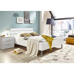 Bett in weiß, Liegefläche 140 x 200 cm, Maße: B/H/T ca. 149/88/210 cm