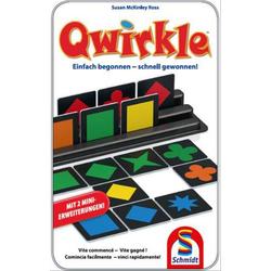 Schmidt Spiele Qwirkle Bring-mich-Mit-Spiel in der Metalldose 51410