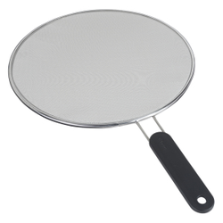 Metaltex Spritzschutz, Inox-Edelstahl, Spritzschutzsieb aus feinperforiertem Inox-Steckmetall, Durchmesser: 29 cm