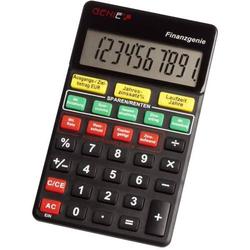 Taschenrechner Finanzgenie 10-stellig schwarz