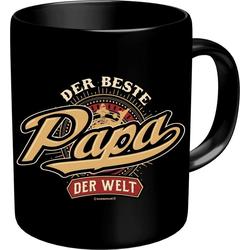Rahmenlos Kaffeebecher mit lustigem Aufdruck Der beste Papa der Welt bunt