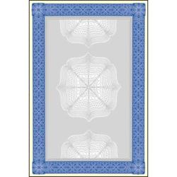 Designpapier Wertpapier blau DIN A4 185g/qm VE=20 Blatt