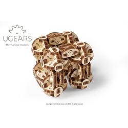 UGEARS 3D-Puzzle UGEARS Holz 3D-Puzzle Modellbausatz FLEXI-WÜRFEL, 144 Puzzleteile