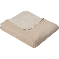Wolldecke Jacquard Decke Rom, IBENA, GOTS zertifiziert natur