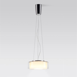 Curling LED Leuchte - Schirm: Größe L / Glas klar