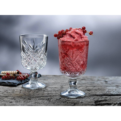 Pasabahce Gläser-Set Cocktailkelch, Weinkelch, Dessertkelch 12 Stk., Glas, Kristall Look