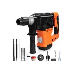 COSTWAY Schlagbohrmaschine Bohrhammer Elektrische Bohrmaschine, 4 in 1 zum Bohren von Wand, Holz, Metall, Ziegeln / 1500W / 800U/min