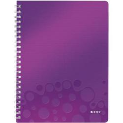 Notizbuch Wow A4 80 Blatt 80g/qm kariert violett