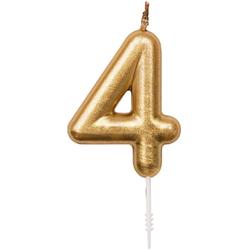 Zahlenkerze 4 Gold