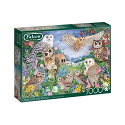 Falcon Puzzle Puzzles 501 bis 1000 Teile JUMBO-11286, Puzzleteile bunt
