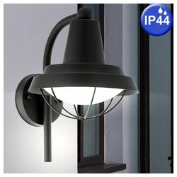 EGLO LED Laterne, Außen Bereich Wand Lampe Balkon Grundstück Leuchte Laterne schwarz Eglo 94862