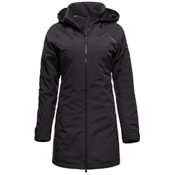 Raa Hardshell Down Coat Women - L - black