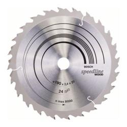 Bosch Kreissägeblatt Speedline Wood 190 x 20/16 x 2,2 mm 24