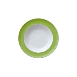 Thomas Porzellan Suppenteller Sunny Day Apple Green Suppenteller 23 cm, (1 Stück)