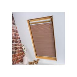Dachfensterplissee Universal Dachfenster-Plissee, Liedeco, verdunkelnd, ohne Bohren, verspannt, Fixmaß natur 83 cm x 141 cm