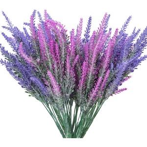 10 Stüc Künstliche Blumen Lavendel Pflanze Künstlich Kunstblumen Blumen Deko Für Zuhause Schlafzimmer Tisch Büro DIY Party Hochzeit Innen- und Außendekoration.