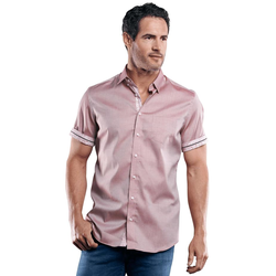 100% bügelfreies Hemd Engbers Weinrot