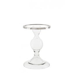 Casa Padrino Luxus Glas Kerzenhalter Durchmesser 18 x H. 28 cm - Hotel Dekoration