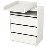 Flexa Wickeltisch mit 3 Schubladen weiß