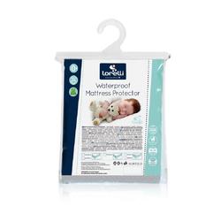 Matratzenschoner Babybett Matratzenschoner, Lorelli, 1 cm hoch, Stoff, weiß, verschiedene Größen, wasserdicht 60 cm x 120 cm x 1 cm