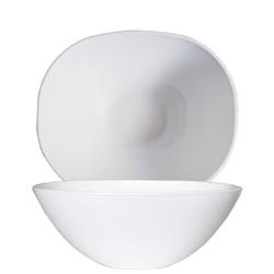 Arcoroc Salatschüssel Solutions Uni, Opalglas, Schale Salatschale Schüssel 25cm Opalglas weiß 1 Stück Ø 25 cm x 9.6 cm