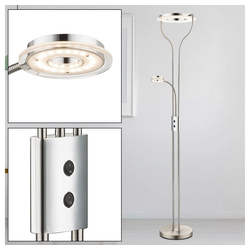 etc-shop Stehlampe, 22,5 Watt LED Flexo Stehlampe Deckenfluter Stehleuchte Fluter Leselampe