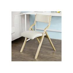 SoBuy Klappstuhl FST40 Küchenstuhl mit gepolsterter Sitzfläche und Lehne weiß