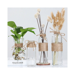 Gotui Tischvase, Glasvasen,Wasser Hydroponik Blumenseil,Trocken blumenvase