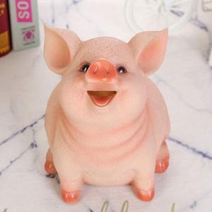 Leezo-Harz-Sparschwein-Kindersparschwein-nettes Schwein-Sparschwein-Haushalts-Dekorations-Handwerk für Schlafzimmer, Multifunktionssparschwein, Haushaltssparschwein, Kindererwachsenes Sparschwein