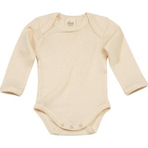 Baby Body, Gr. 86/92, in Bio-Wolle und Seide, natur, für Mädchen und Jungen
