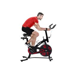Merax Speedbike Phanes, Heimtrainer Fahrrad, Indoor Cycle, mit LCD-Konsole rot