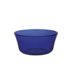 Duralex Salatschüssel Lys Saphir, Glas, Schale Salatschale Schüssel 10.5cm 250ml Glas blau 1 Stück Ø 10.5 cm x 5 cm